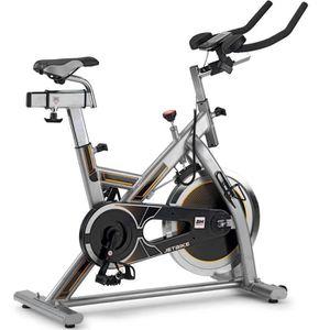 BH FITNESS Velo Biking spinning MKT JET BIKE - volant d'inertie 18 kg, Transmission courroie Poly-V