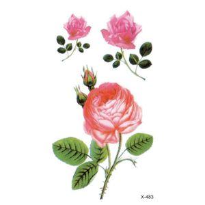tatouage ephemere fleur achat vente pas cher. Black Bedroom Furniture Sets. Home Design Ideas