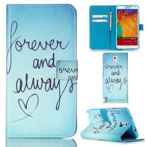 COQUE - BUMPER ® Samsung Galaxy Note 3 Coque Flip PU Leather Cove