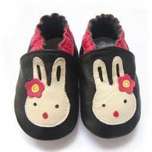 CHAUSSON - PANTOUFLE Chaussons ENFANT Cuir Souple 6-12 mois lapin