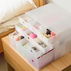 BOITE DE RANGEMENT 2pcs Boîte de rangement cosmétique tiroir plastiqu