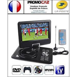 LECTEUR DVD PORTABLE DVD-Console jeux portable 9.5 pouces Noir (MP3,MP4
