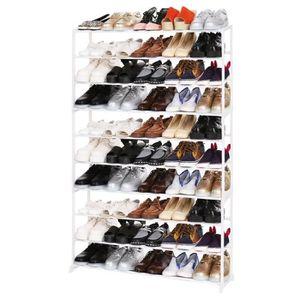 d5bbfc9deb19e1 MEUBLE À CHAUSSURES Portable 10 niveau chaussures Rack support étagère