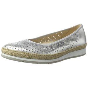1e13e8db1d225 BALLERINE Chaussures femme Confort, ballerines, argent, 6,5