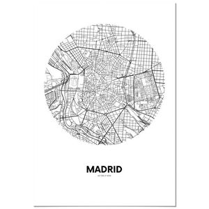 AFFICHE - POSTER Panorama® Poster Carte Cercle de Madrid 70 x 100 c