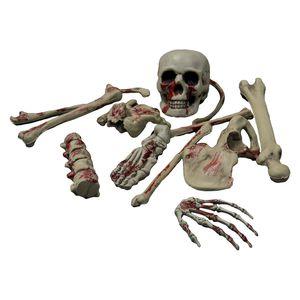 Décors de table Os de squelette avec crâne halloween (x14) horreur