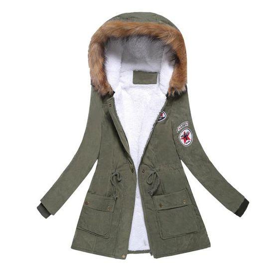 D hiver Femmes Manteau Fourrure À Col Capuche Slim Outwear Parka Manteaux  xlp81021691gn Veste De vert Chaud Long dPFXqwPr daf4201fe60