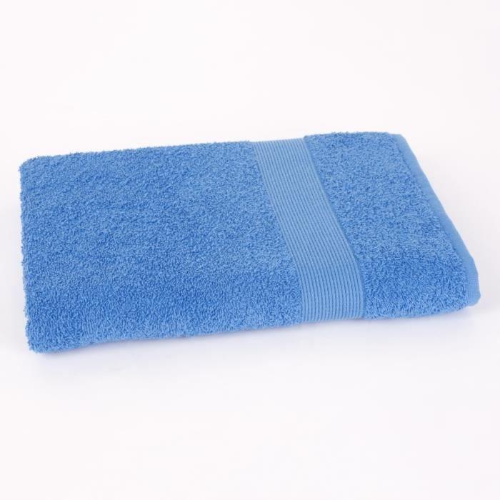 Drap de douche 70x140cm VIVA - 100% coton 500gr/m² - Bleu - Production BelgeSERVIETTE DE BAIN - DRAP DE BAIN