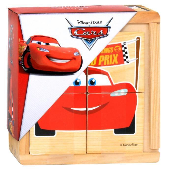 CARS - Lot de 6 Puzzles en bois - 4 Pièces - Mixte - A partir de 18 mois - Livré à l'unitéPUZZLE
