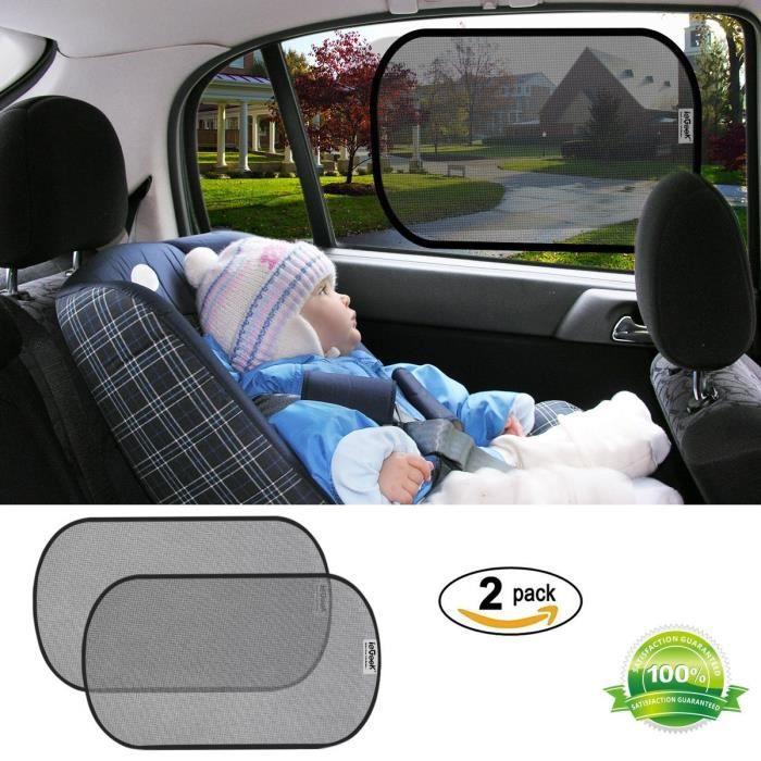 iegeek 2pcs pare-soleil de voiture bloc nuisibles rayons uv rayons de  soleil chaleur et protection pour bébé / enfants / animaux