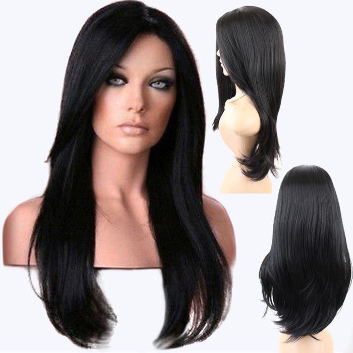 Perruque longue bandeau naturel cheveux longs