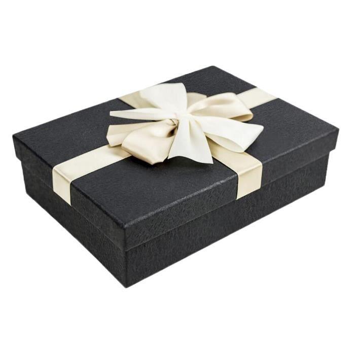 bo te cadeau bo te d corative pour enveloppement cadeau noir achat vente bo te cadeau. Black Bedroom Furniture Sets. Home Design Ideas