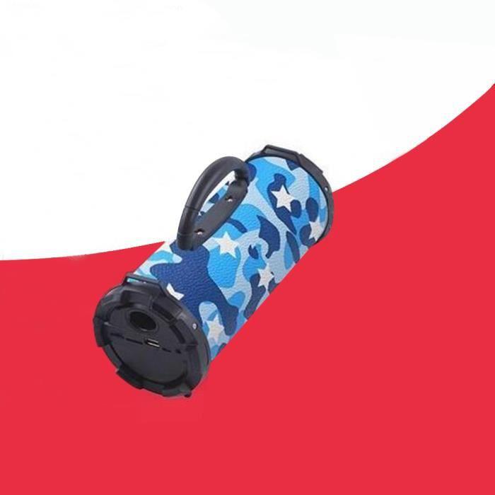 Enceinte Bluetooth Sans Fil Haut-parleur Étanche Portable Extérieur Mini Vélo Bleu