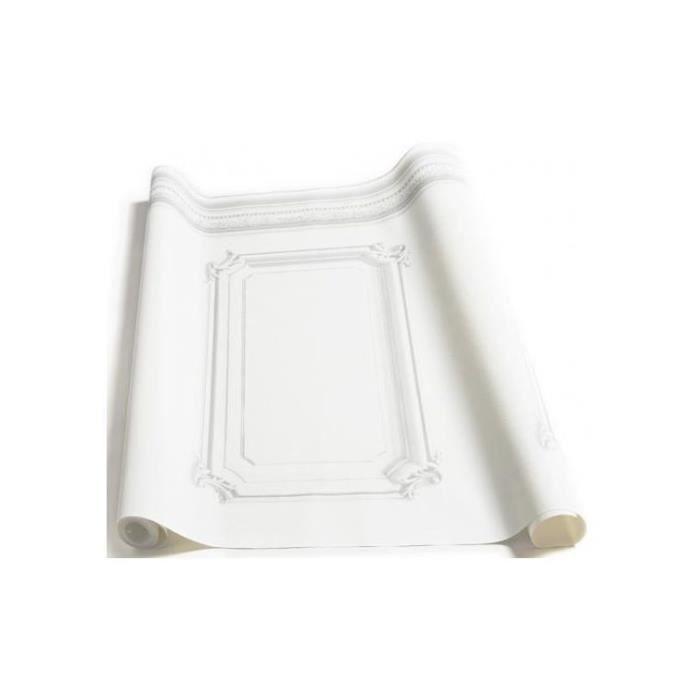 Papier Peint Soubassement Haussmannien Blanc Achat Vente Papier