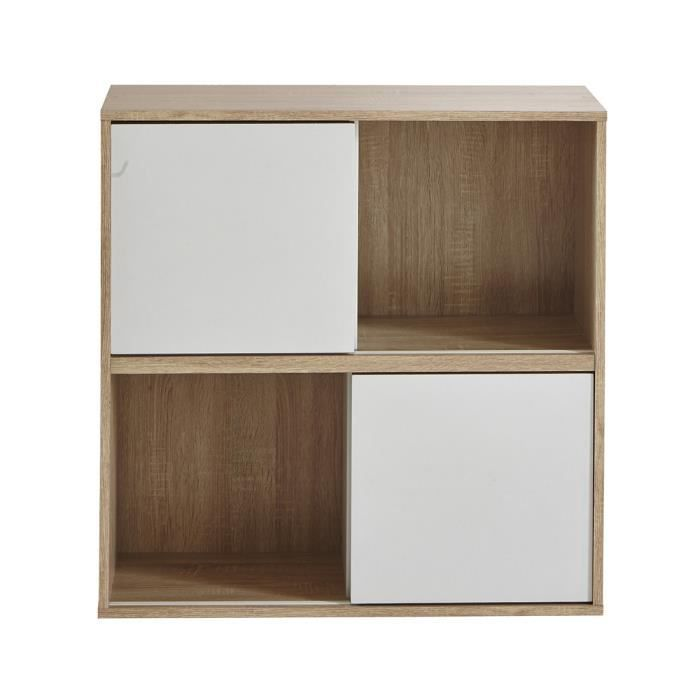 meuble cube blanc avec porte achat vente meuble cube. Black Bedroom Furniture Sets. Home Design Ideas
