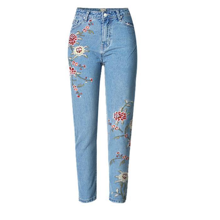 pantalon jean brodee femme achat vente pantalon jean brodee femme pas cher soldes d s le. Black Bedroom Furniture Sets. Home Design Ideas