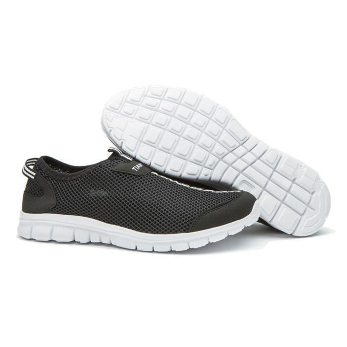 Chaussures de filet Antidérapant perméable à l'air Hommes Basket Mode homme Confortable Les chaussure de loisi dssx268noir47 54gZz