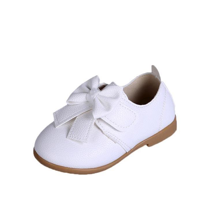BOTTE Bébé Fashion Candy Couleur Bow Sneaker Enfant Filles Toddler Casual Chaussures simples@Blanc