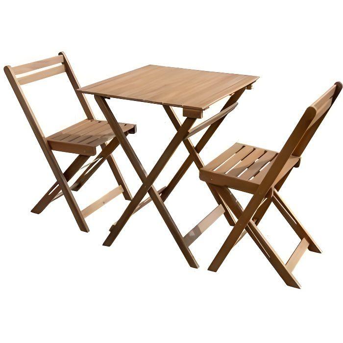 Ensemble repas de jardin ou de balcon 2 places - 1 table et 2 ...