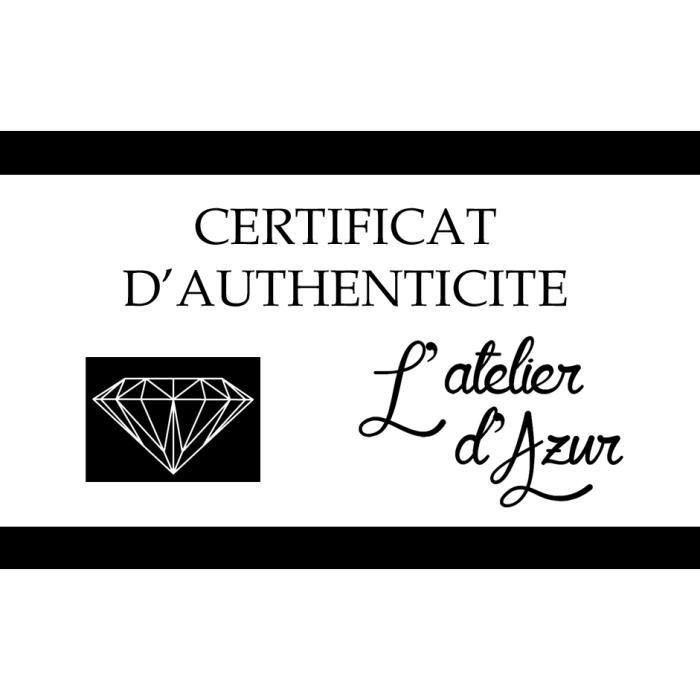 Collier Solitaire Diamant Qualité Supérieure 0,20 carats - Or Blanc 18 carats - 750/000
