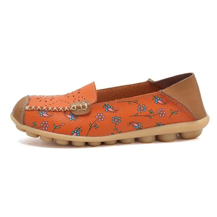 Floral Comfort Walking Flat Mocassins PBDH0 Taille-36 1-2