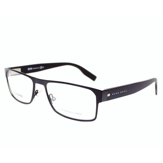 Lunettes de vue Hugo Boss BOSS 0601 -94X Noir mat Noir - Achat   Vente  lunettes de vue Lunettes de vue Hugo Boss B... Homme - Soldes  dès le 9  janvier ! e2c9a1757931