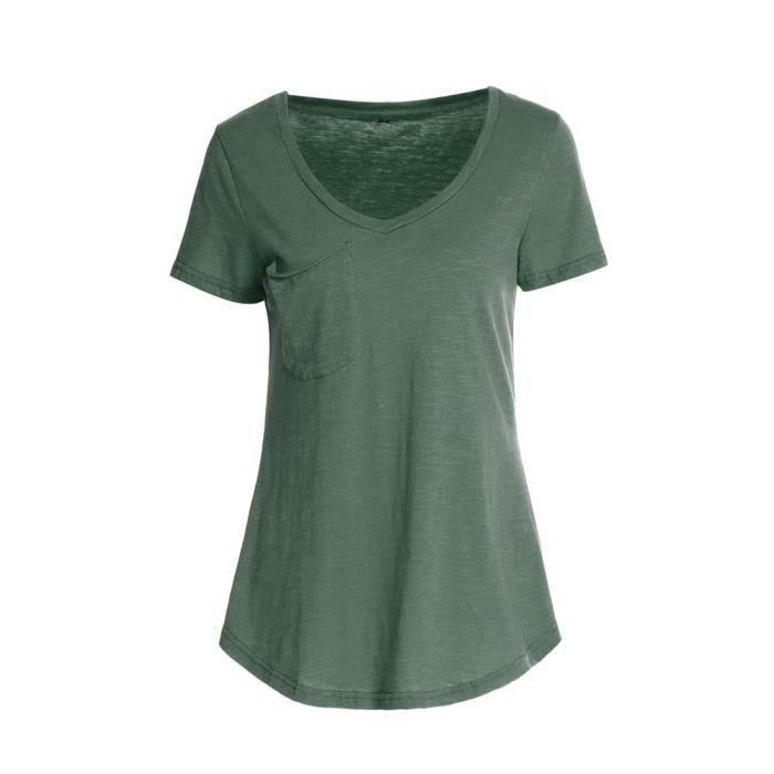 Green L Poi shirt Manches 1696 Femmes Pour Lnp80625361gnl Courtes T À w76q1Px7Uz