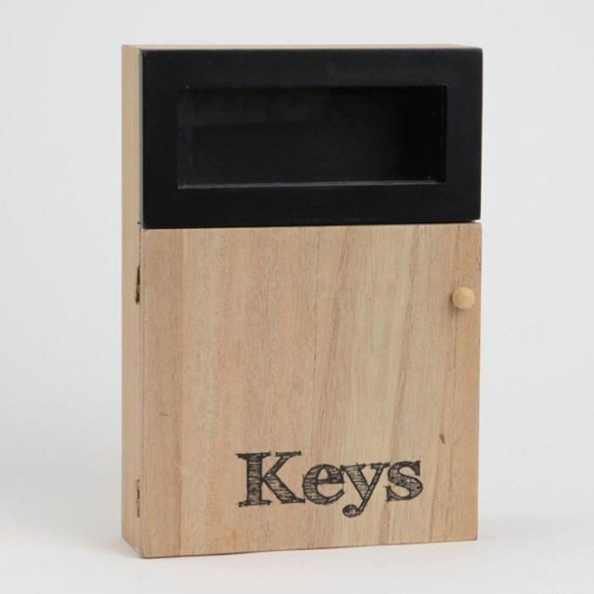 boîte à clés bois/métal noir noir,bois - achat / vente armoire
