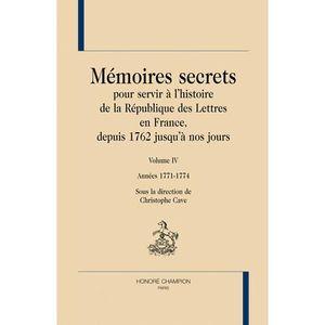 CRITIQUE LITTÉRAIRE Mémoires secrets pour servir à l'histoire de la Ré