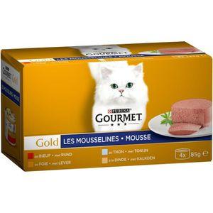 GOURMET Pâtée pour chat Les Mousselines - 4 x 85 g