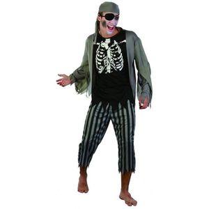 DÉGUISEMENT - PANOPLIE Déguisement pirate zombie homme - 225796 (Taille U