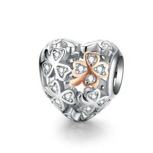 BAMOER Charms Argent 925 Rose Bleu Jaune Espaceurs Crystal Charm pour  Essence Bracelet Collier DIY Femme Bijoux 68fc65f42086