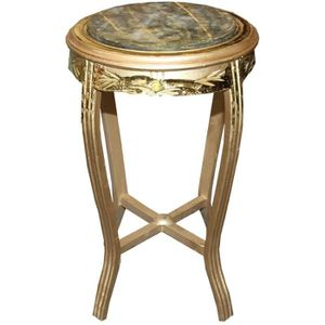 TABLE D'APPOINT Casa Padrino Table d'Appoint Baroque Ronde Or / Ve