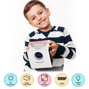LECTEUR DVD ENFANT Excelvan Q2 Projecteur  Jouets Enfants Rose EU