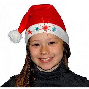 CHAPEAU - PERRUQUE Bonnet de Noel Etoile Lumineux Enfant - Rouge Pere