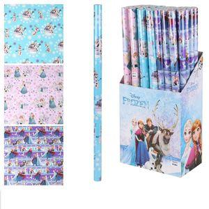 PAPIER CADEAU Lot de 12 Rouleau de papier cadeau Disney Frozen L