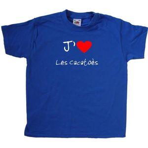 T-SHIRT T-Shirt enfant J'aime Les Cacatoès