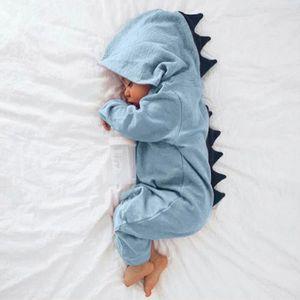 a19ba559e10c Ensemble de vêtements Nouveau-né Infantile Bébé Garçon Fille Dinosaure À ...