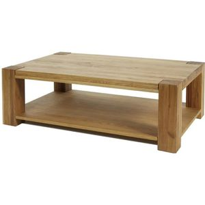 Table basse chene massif achat vente table basse chene - Table basse en massif revetement ardoise ...