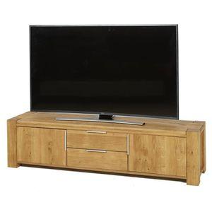 MEUBLE TV DIEGO 2 Meuble TV classique en bois massif naturel
