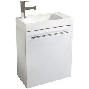 LAVE-MAIN Meuble lave-mains design couleur blanc avec mitige