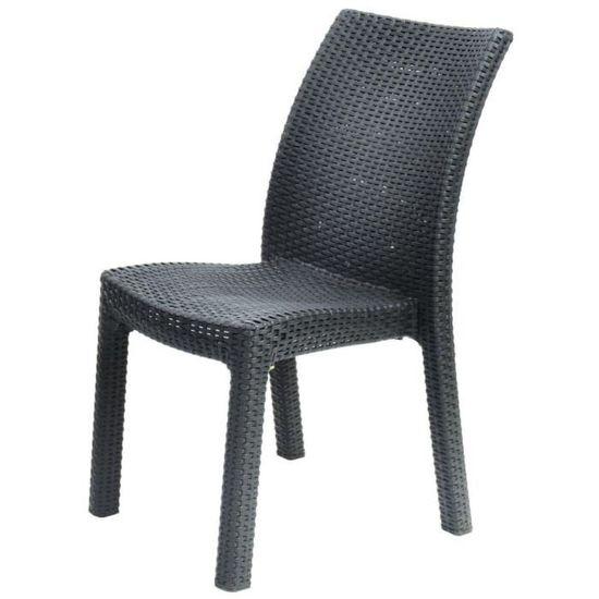 Magnifique Keter Chaise de jardin 2 pcs Toscana Graphite 212592 ...