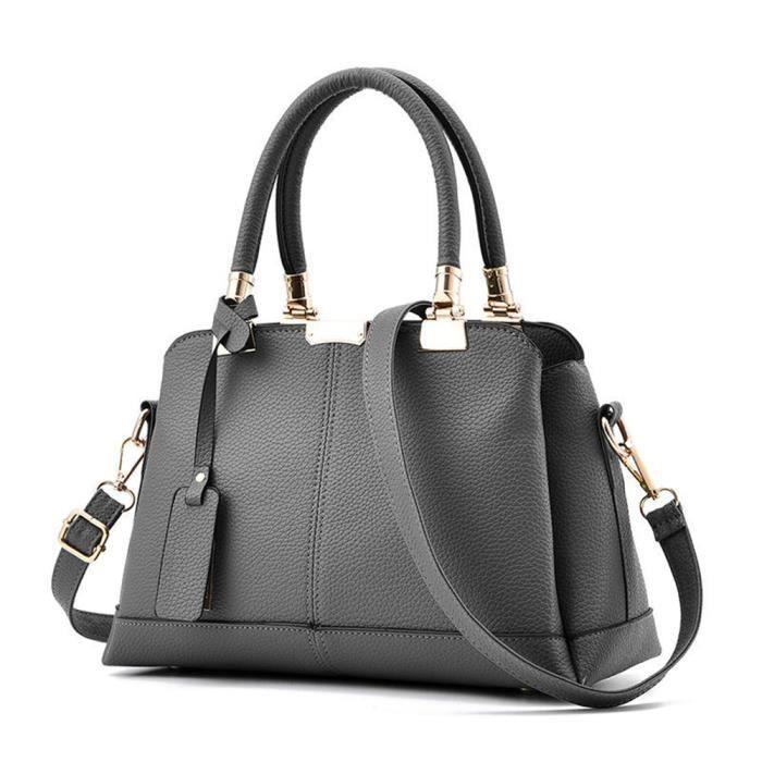 4f7657ab3e sac cuir femme Nouvelle arrivee sac cuir chaine marque de luxe sac de luxe  gris sac cabas femme de marque sacs femmes