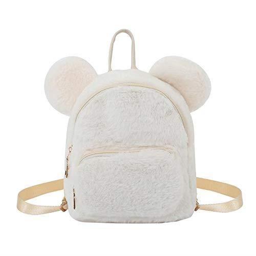 grossiste c2e22 ea262 Mini sac à dos pour femme en fausse fourrure Polaire enfants filles enfants  d'école Maternelle Bandoulière Sac à dos blanc