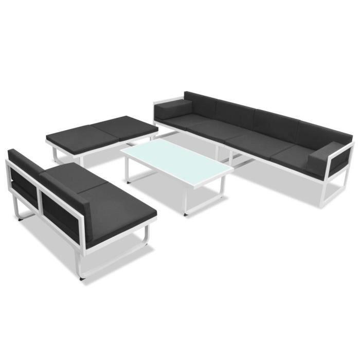 Ensembles de meubles d\'exterieur Jeu de canapes de jardin 17 pcs ...