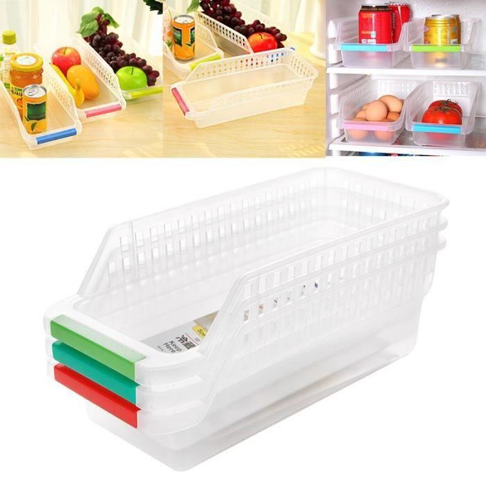 Plastique Cuisine Congelateur Tiroir Etagere De Rangement Support