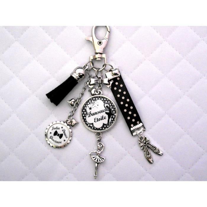 bijoux de sac danseuse porte clefs ballerine danse cabochon personnalis id e cadeau st valentin. Black Bedroom Furniture Sets. Home Design Ideas