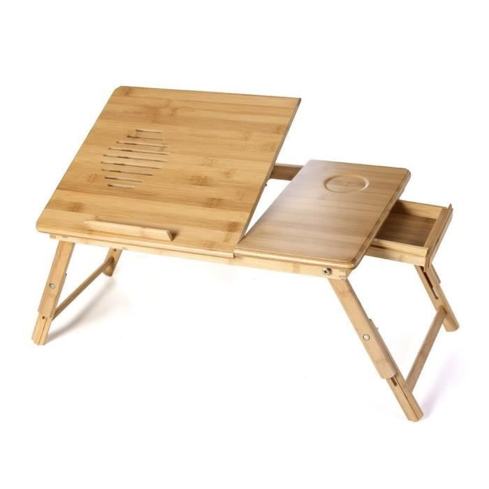 meuble de lit pour ordinateur table de de lecture pliable inclinable achat vente meuble. Black Bedroom Furniture Sets. Home Design Ideas