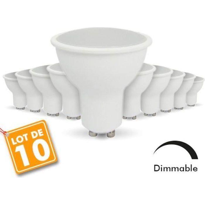 AMPOULE - LED lot de 10 Ampoules Led GU10 7W eq. 60W  Dimmable (