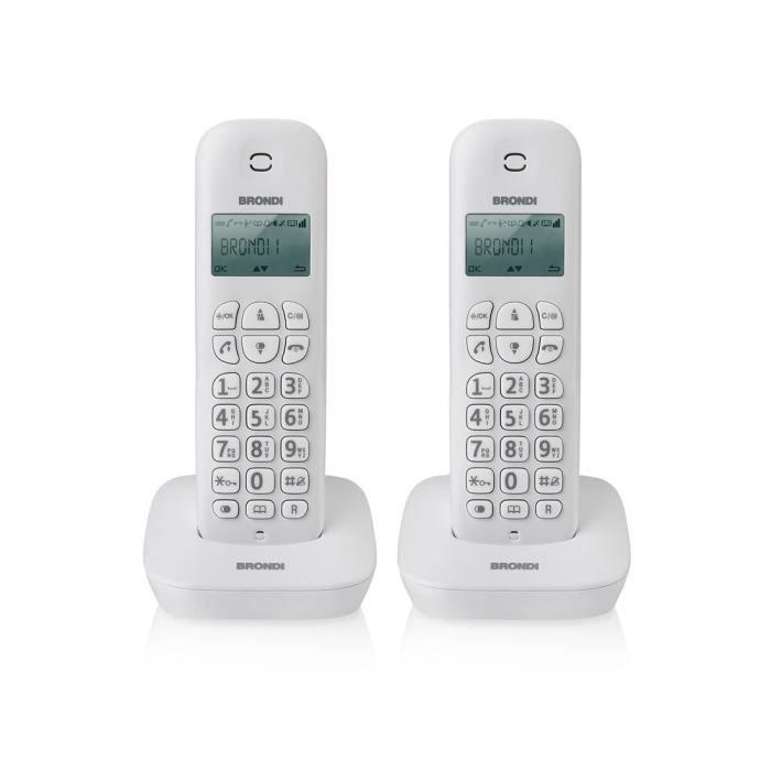 Téléphone fixe Brondi Gala Twin, Téléphone DECT, Combiné sans fil